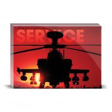 Modern Motivation - Service Helicopter Desktop Print