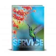 Modern Motivation - Service Hummingbird Desktop Print