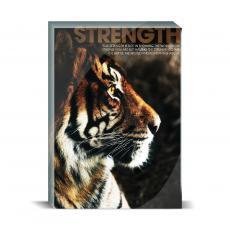 Modern Motivation - Strength Tiger Desktop Print