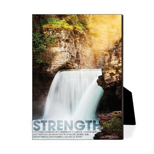 Strength Waterfall Desktop Print