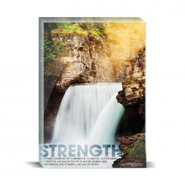 Strength Waterfall Desktop Print