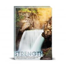 Modern Motivation - Strength Waterfall Desktop Print