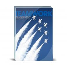 Modern Motivation - Teamwork Jets Desktop Print