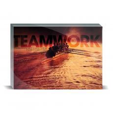 Modern Motivation - Teamwork Rowers Desktop Print