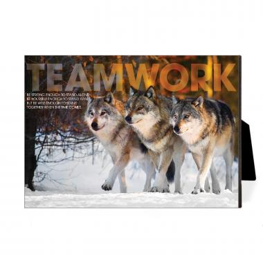 Teamwork Wolves Desktop Print