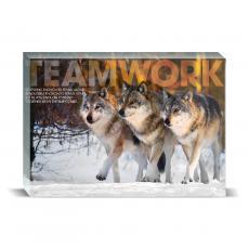 Modern Motivation - Teamwork Wolves Desktop Print