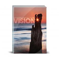 Modern Motivation - Vision Driftwood Desktop Print