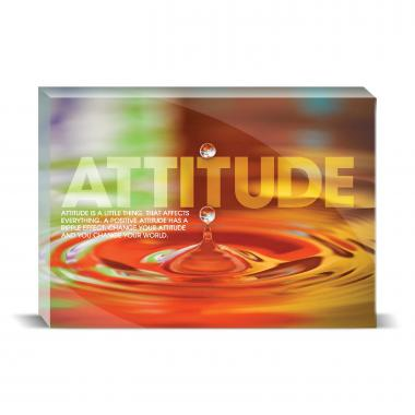 Attitude Rainbow Drop Motivational Art