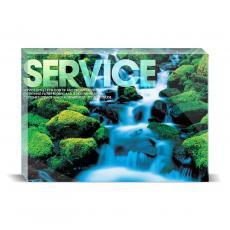 Modern Motivation - Service Waterfall Desktop Print