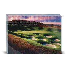 Modern Motivation - Excellence Golf Desktop Print