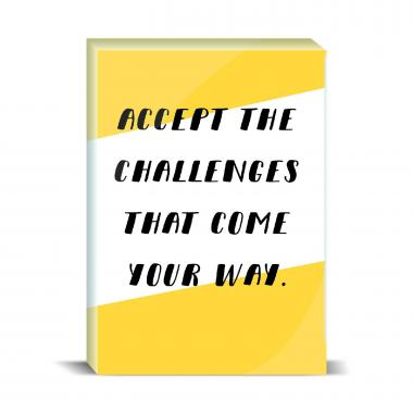 Accept The Challenges Desktop Print