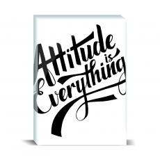 Typography - Attitude is Everything Desktop Print