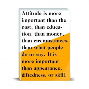 Attitude Is More Important Desktop Print