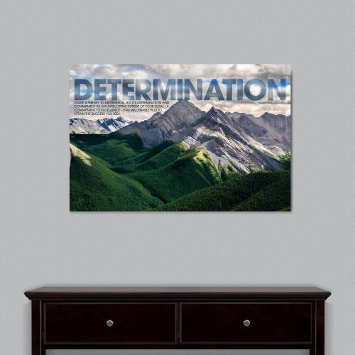 Determination Mountain Motivational Art
