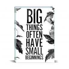 Typography - Big Things Desktop Print