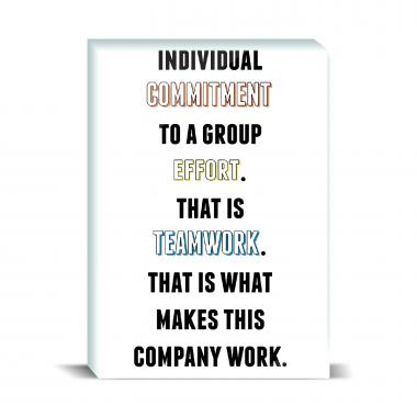 Commitment To Teamwork Desktop Print