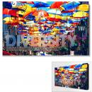 Diversity Umbrellas Motivational Art