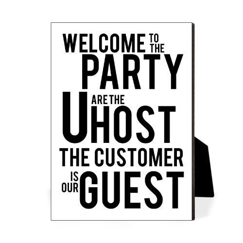Customer Is A Guest Desktop Print