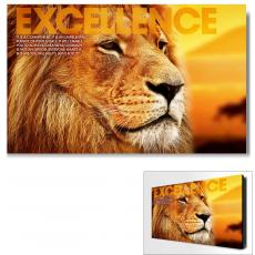 Excellence Lion Motivational Art