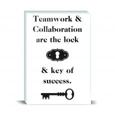 Typography - Key Of Success Desktop Print