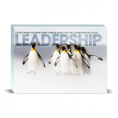 Leadership Penguins Motivational Art