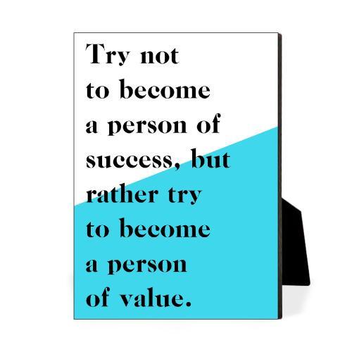 Person Of Value Desktop Print