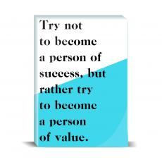Typography - Person Of Value Desktop Print