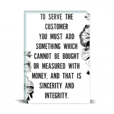 Serve The Customer Desktop Print
