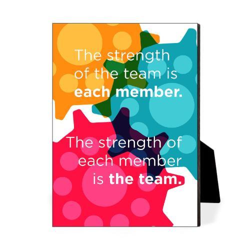 Strength Of The Team Desktop Print