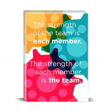 Strength Of The Team Desktop Print