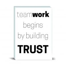 Typography - Teamwork Begins Desktop Print