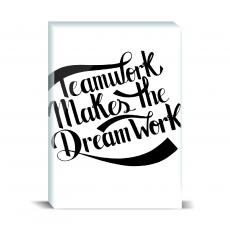 Typography - Teamwork Dreamwork Desktop Print