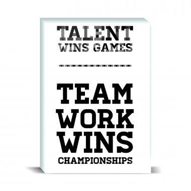 Teamwork Wins Desktop Print