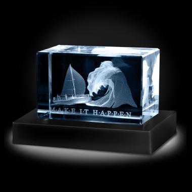 Make It Happen 3D Crystal Award
