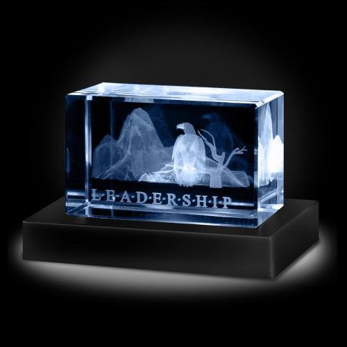Leadership Eagle 3D Crystal Award