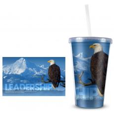 Leadership Eagle 16oz Acrylic Straw Tumbler