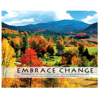 Embrace Change Seasons Unframed Motivational Poster