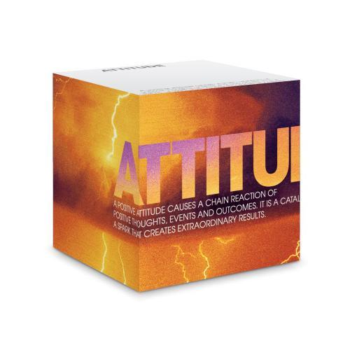 Attitude Lightning Self-Stick Note Cube