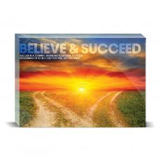 Modern Motivation - Believe & Succeed Desktop Print