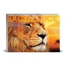 Modern Motivation - Excellence Lion Desktop Print