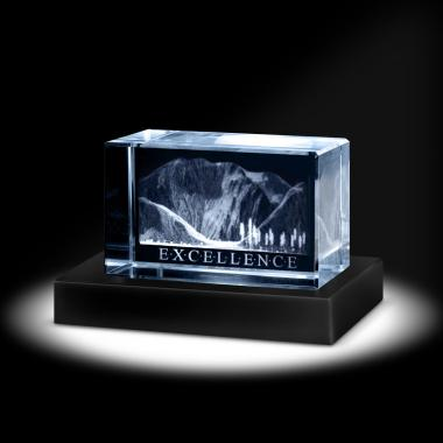 Excellence Mountain 3D Crystal Award