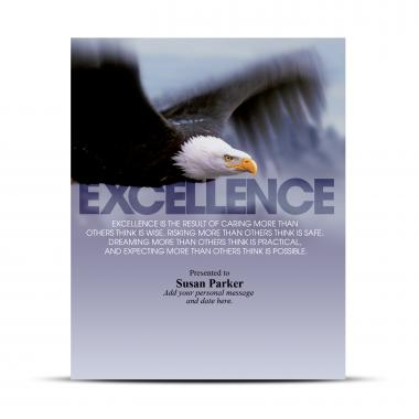 Excellence Eagle Infinity Award Plaque