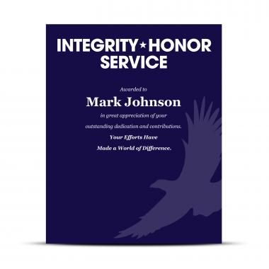 Military Industry Award Plaques