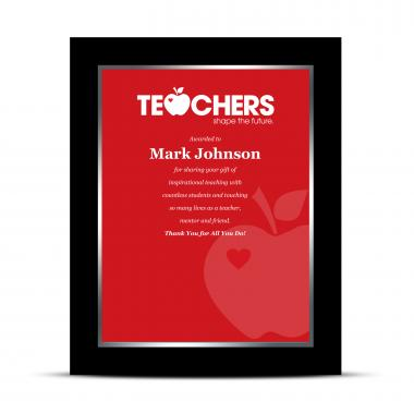 Teachers Industry Award Plaque