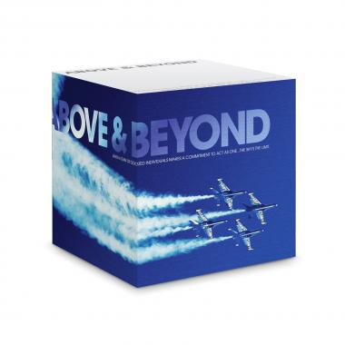 Above & Beyond Self-Stick Note Cube
