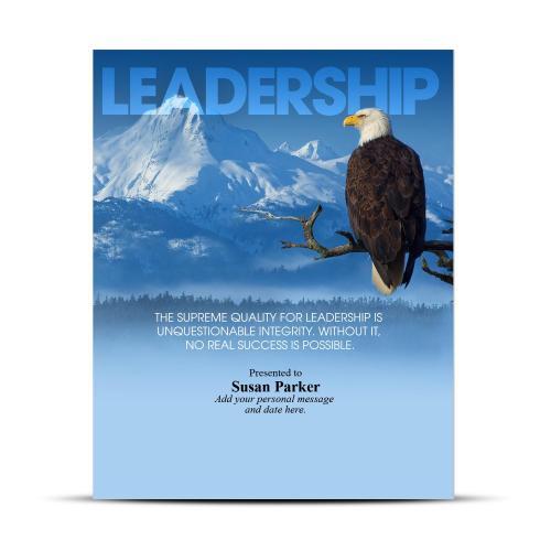 Leadership Eagle Infinity Award Plaque