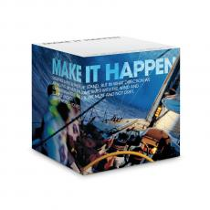 Make It Happen Self-Stick Note Cube