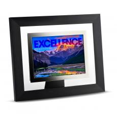 Modern Motivation - Excellence Mountain Infinity Edge Framed Desktop