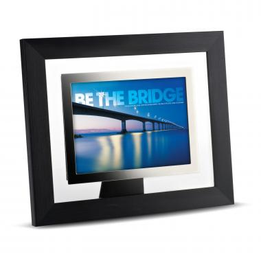 Be The Bridge Infinity Edge Framed Desktop