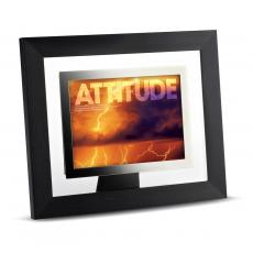 Modern Motivation - Attitude Lightning Infinity Edge Framed Desktop